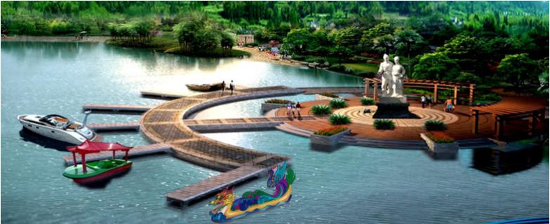 """天女河位于河南省济源市黄河小浪底风景区内,被誉为""""人间爱河——离爱"""